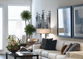 Lofts at CityCentre living room