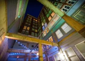 The Interurban Building interior building view