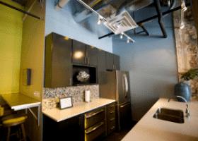 The Interurban Building kitchen