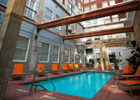 The Interurban Building pool