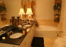 The Caruth bathroom