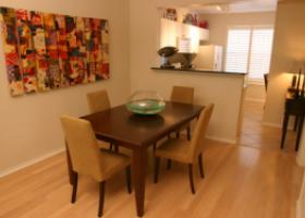 The Caruth dining area