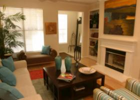 The Caruth living space