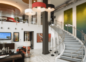 Camden Design District residential lounge